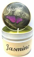 Jasmine 4oz All Natural Handmade Soy Candle Tin Approximate Burn Time 30 Hours W