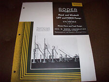 1936 Roper Hand & Windmill Well Pump Advertising Brochure Cylinders