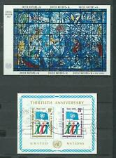 United Nations # 179 MNH & 262 used - Souv. Sheets-Memorial Window and U.N. Flag
