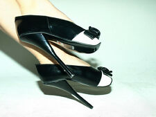 BLACK OR RED PATENT LEATHER BALLET PUMPS SIZE 6-16 HEELS-8,5'- PRODUCER- POLAND