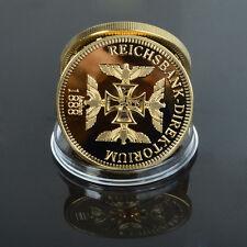 RARE IRON CROSS - 1888 CAVALIERI tedeschi Nero WW2 Gold Medal Token Coin