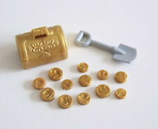 PLAYMOBIL (A2267) PIRATES - Coffre Trésor Doré avec 12 Pièces d'Or & Pelle 4156