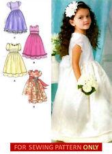 SEWING PATTERN! MAKE GIRLS FANCY DRESS! 1ST COMMUNION~FLOWER GIRL!  ! SIZE 4~8!