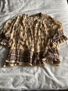 zara blouse size medium