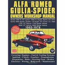 Alfa Romeo Giulia Spider Owners Workshop Manual: Easy t - Paperback NEW Clarke,