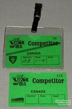 81 World Hockey Championships Lot Of 2 Team Canada Pass