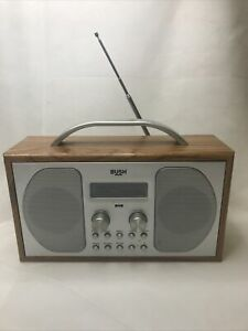 Bush Wooden Retro Style Portable DAB FM Digital Radio Stereo Alarm Clock 1507