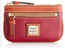 Dooney and Bourke Pebble Grain Small Coin Case - red