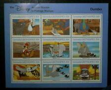 Certified Block stamps Dumbo The Disney 1988 Grenadines of GRENADA (500A)