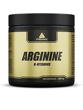 Peak Arginin (12,58€/100g), Dose mit 120 Kapseln á 1000mg Aminosäure