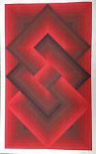 "Jurgen PETERS, Original Serigraph, ""Red Composition"", 1972 Signed H.C. OP ART"