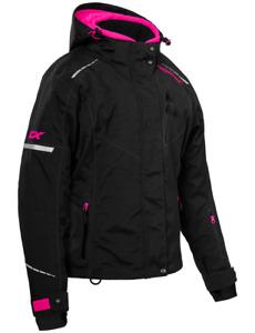Castle X Womens Polar Jacket Black.Pink Glo Snowmobile coat