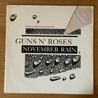 "GUNS N' ROSES 12"" NOVEMBER RAIN SINGLE SIDED ETCHED DISC (GFST18)"