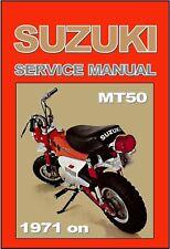 SUZUKI Workshop Manual MT50 1971 1972 & 1973 Service & Repair MT50R MT50J MT50K