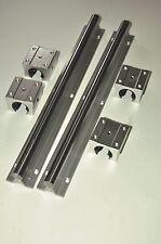 2pcs SBR16-400mm Linear Bearing Rails +4 pcs SBR16UU Sliding Block