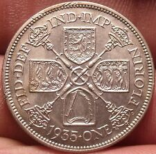 Unc Silver Great Britain 1935 Florin~Excellent~Free Shipping