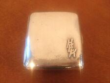 Antique William B Kerr Sterling Silver Hand Hammered Cigarette Case HEK