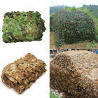 Military Camouflage Netting Hunting Camo Camping Army Net Woodland Desert Leaves