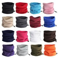 Adult Mens / Ladies Fleece Snood Neck Warmer Neck Gaiter Face Covering