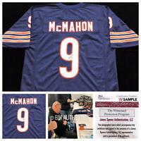 Jim McMahon Signed Autograph Blue Football Jersey JSA COA Chicago Bears QB