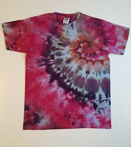 12-13y Kids Tie Dye T-shirt Top Festival Beach Surf Present Gym Party Summer Fun