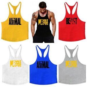 Men's Muscle Workout Tank Top Gym Bodybuilding Stringer Sport Fitness Vest Shirt