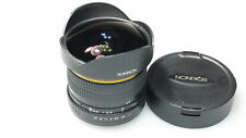 ROKINON 8mm FISH-EYE/FISHEYE CS LENS FITS EOS FILM/DIGITAL CAMERAS MINT