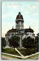 Valparaiso Indiana~Courthouse & Courthouse Square~1910 Postcard