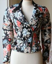 CELINE FLORAL LEATHER JACKET FR 36 UK 8