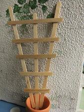 2 Miniatur-RANKGITTER aus Holz,ideal zum Selbstgestalten+Bepflanzen Garten 1:12