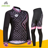 Women's Outdoor Cycling Jersey Pants Set Bike Bicycle Sport Clothing Wear Suits
