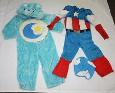 Boys Plush Care Bear Super Hero Halloween Pretend Costumes Size 3/4