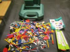 Large K'nex Green Plastic Carry Case with Mixed K'nex Parts Carrying Case