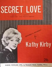 Vintage Music Sheet (50's/60's) - Secret Love Rec. by Kathy Kirby