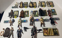 "Huge Lot of 18 Star Wars 3.75"" Action Figures With Accessories Weapons - Vintage"