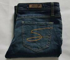 7 Seven Ladies Jeans 29x33 Size W29 L33 Size Blue Low Waist Bootcut Stretch