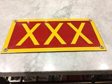 Old Porcelain Sign Military Explosives XXX Newport Army Ammunition Plant Indiana