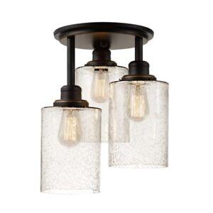 Globe Annecy 3-Light Flush Mount Light Fixtures