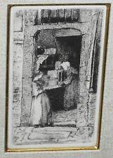 1858 US Etching Print La Marchande de Moutarde by James A Whistler (ZaG)