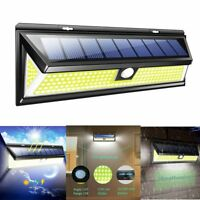 180 LED Solar Power PIR Motion Sensor Wall Light Outdoor Garden Lamp Waterproof