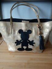 Magnifique grand sac doré or noir Mickey Disney Store comme neuf