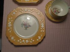 Wedgwood & Co. Ltd. Queen's Ivory Cups Saucers Plates (12 pcs.) 1920-30's