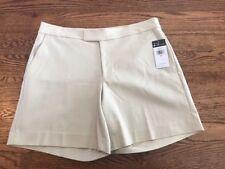 Chaps Women's Gallery Tan Sailor Bay Strechy Cotton Shorts-NWT-Size 12 K2