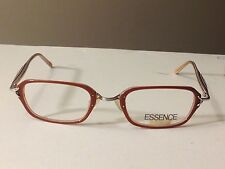 New ESSENCE EYEGLASS WOMENS FRAMES rust orange / multi color temples 51-23-140