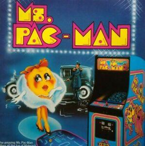 Ms Pac-Man Arcade Flyer Midway 1982 Original Retro Video Game Art Print Promo
