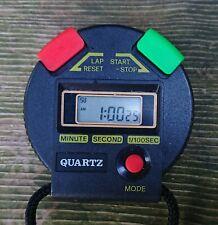 Quartz Stoppuhr Sportuhr schwarz mit Funktion batteriebetrieben 90er Jahre
