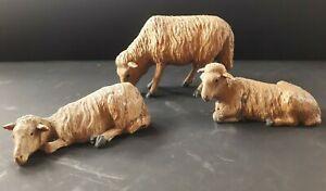 Antike Krippenfiguren- Schafe Holz geschnitzt