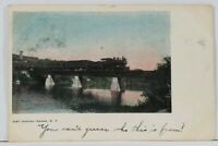 ADAMS NY Railroad Bridge Just Leaving Adams 1906 to Mexico New York Postcard L10