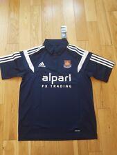 West Ham United WHU Blu Navy Polo Top Camicia Taglia M