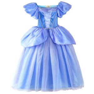 ELSA & ANNA® Girls Fancy Dress Snow Queen Princess Dress Halloween Costume CNDR2